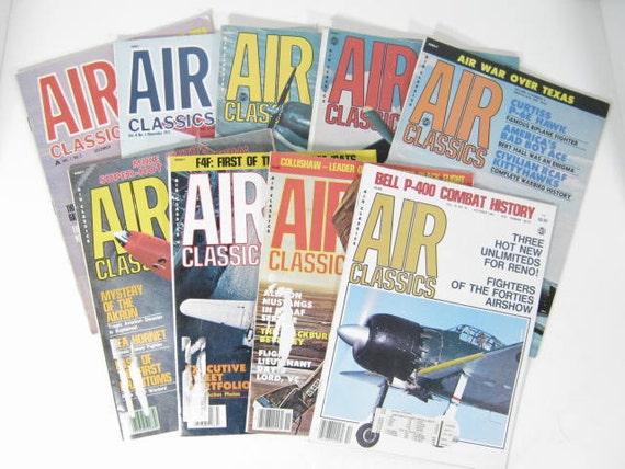 Air Classics Magazines   9 magazines 1970 to 1983