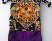 Sun and Moon and Purple Adventure Bag, Dice Bag for Wizard or Sorcerer