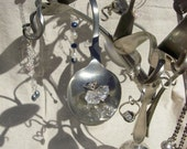 Jewellery\/Jewelry Tree Recycled Silver Plated Cutlery and Bits. No.1