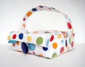 Rainbow Polka Dots Bento Box Lunch Bag