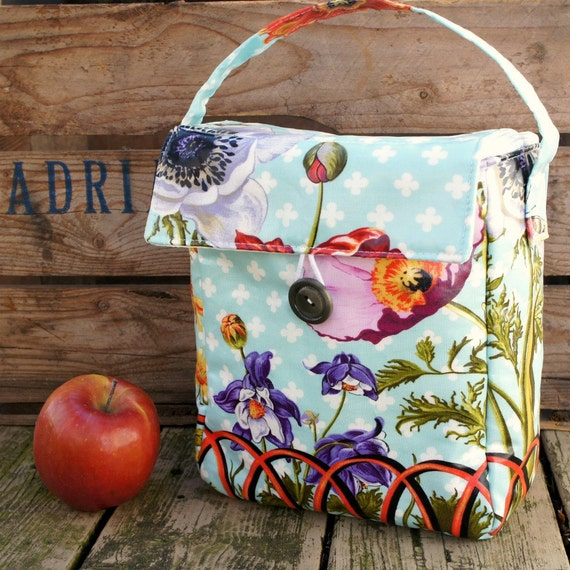 INSULATED Lunch Bag in Garden Gate