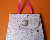Pink Paisley Mini Purse Post It Note Holder