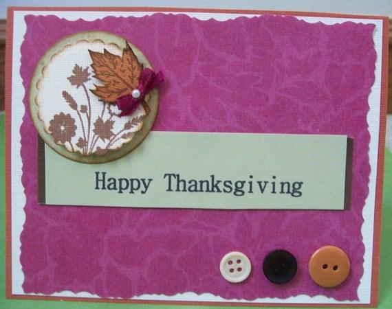 Happy Thanksgiving Modern Fall Greeting Card