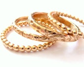 Modern Stackable Gold Ring Handmade - Free Shipping On Orders Over 100 USD