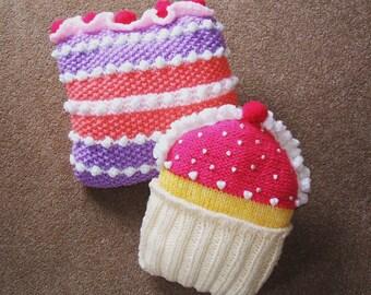 SALE! CAKEY CUSHIONS knitting pattern