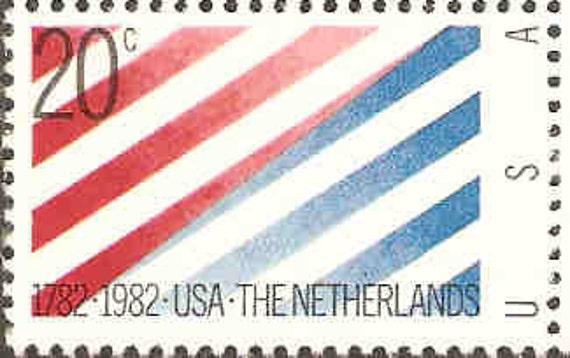 Vintage Postage Stamps USA-The Netherland