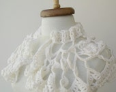 Cream Mohair Capelet-Ready For Shipping-Fall Fashion-2012 Winter Trend-For Gift