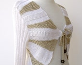 Soft Elegant Cotton Shrug - Long Sleeves-Ready for shipping