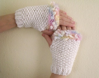 Candy Warm Fingerless Gloves - Wrist Warmers-Ready For Shipping