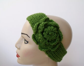 Green Flower headband-Ready For Shipping-