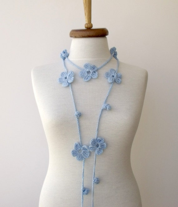 Baby Blue Bloom Scarf-Ready For Shipping