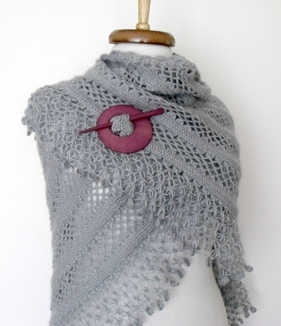 Grey Bridal CASHMERE Mohair shawl-EXPRESS SHIPPING-Ready to ship