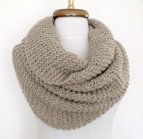 SALE...Beige Cowl Neckwarmer With Flower Brooch-Ready For Shipping-Black Friday and Cyber Monday-Christmas gift