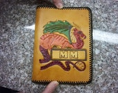 Hand tooled leather book cover