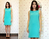 Green Shift Dress Day Party Petite Turquoise Pastel Mod Neon Mini Pink Short Sleeveless Fall Fashion Etsy Gift