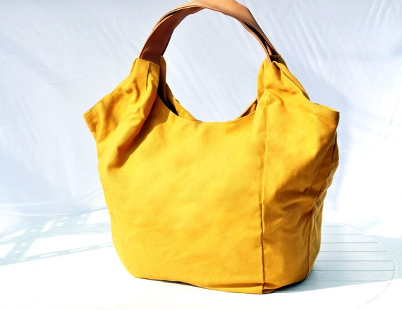 Holiday Accessories Spring Fashion Mad Men Office Hobo Bag Tote Yellow Mellow