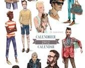 Manly Hipster Man Calendar