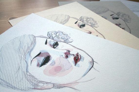 Kristina // Mini Colored Prints