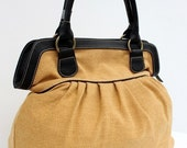 Yellow Sackcloth Handbag
