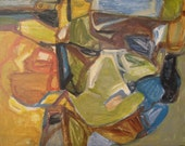 Holiday Sale: Meadowlands, original Abstract Landscape Acrylic on Canvas