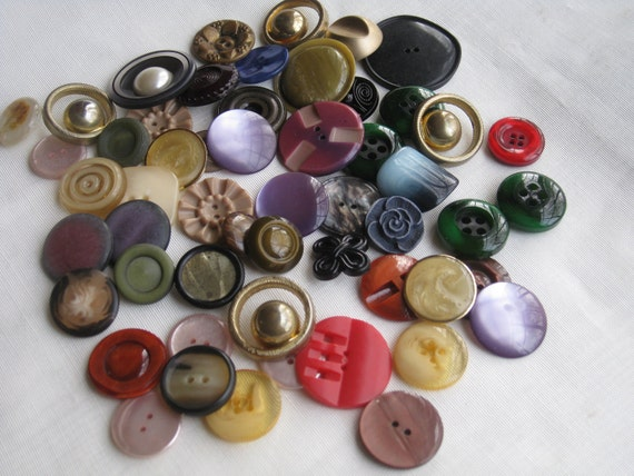 SALE Vintage Coat Buttons Fancy Assorted Mixed Lot Large Fun and Funky 50 Plus REDUCED 20%