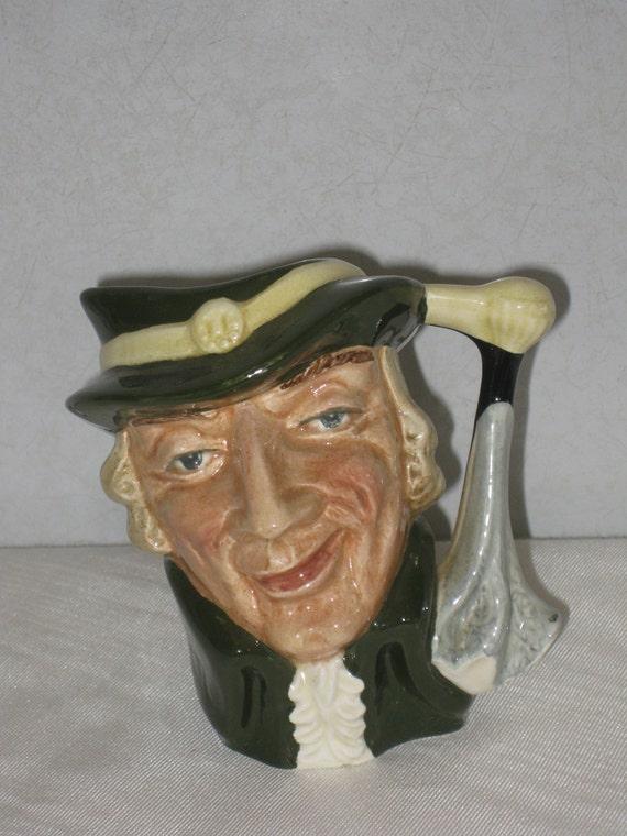 Royal Doulton Regency Beau Toby Jug Mug Figurine Small Man Face Ceramic Mug D6562 Made in England China Head Mug Retired Character Jug Mug
