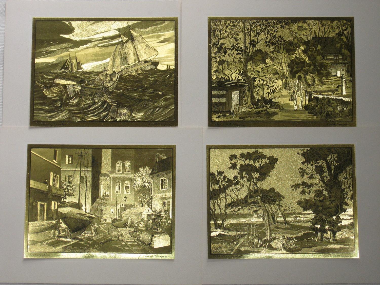 Vintage Gold Etch Prints Lionel Barrymore Gallery Of Art