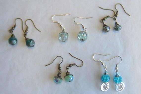 Sale - set of 5 earrings - lot 18