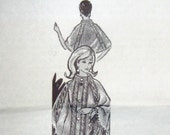 60s Alice Brooks 7137, Knitted Cape, Vintage Mail Order Pattern
