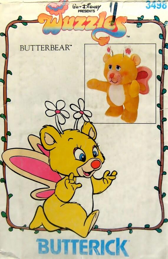Walt Disney Vintage Pattern Wuzzle Butterbear Butterick 3498 12 inch doll