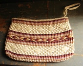 Multi-Colored Woven Raffia Oversize Wristlet Clutch