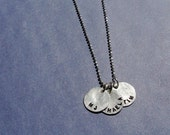 Three Small Disc Mother's Necklace-Fundraiser