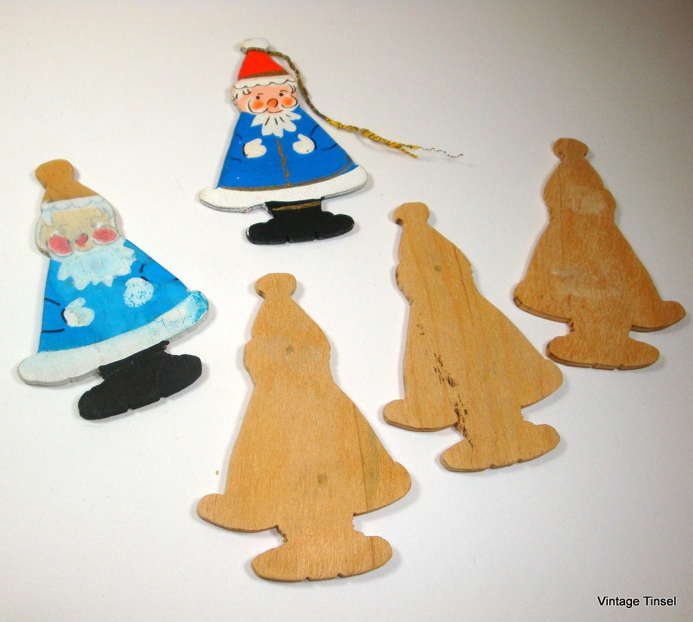 Christmas wood cutouts ornaments holiday decor by for Wooden christmas cutouts