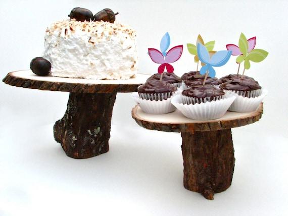 tree stump cake stand. Black Bedroom Furniture Sets. Home Design Ideas