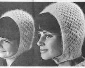ANGORA BONNETS 60's Vinatge Pattern