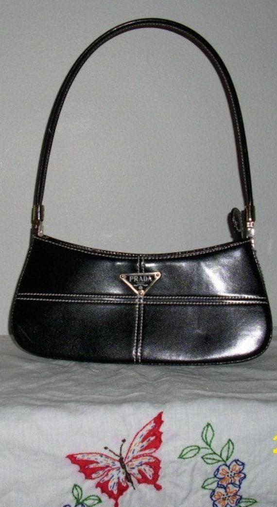 prada ostrich leather wallet - Prada Handbag Black Vintage by ButterflyBirdShop on Etsy