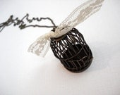 Caged Beauty--Antiqued Brass Bird Cage