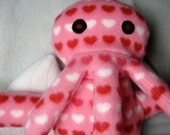 Love Cthulhu -Plush Quirky Pink Moster covered with hearts Priority Shipping