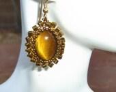 Woven Tigereye Earrings beaded earrings brown and gold earrings casual earrings dressy earrings