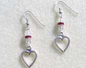 Sterling Silver Heart-Shaped Earrings - Circle of Love