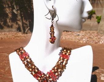 Copper Elizabethan Necklace Set