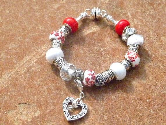 Love Is All Around -  Charm Bracelet