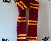 Reserved for Kim Leanna Harry Potter Inspired Gryffindor USC Trojans Scarf and Beanie with Crochet Flower