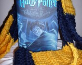 Harry Potter Inspired Ravenclaw Cal UC Berkeley San Diego Chargers Scarf, Chunky, Soft, Warm
