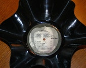 """Genuine 33rpm Upcycled LP Record Bowl featuring John Lennon """"Imagine"""" on Apple Records"""