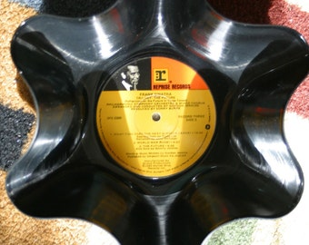 Frank SinatraGenuine 33rpm Upcycled LP Record Bowl featuring  on Reprise Records