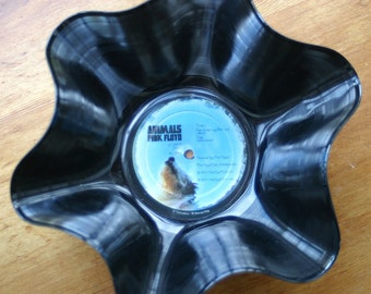 """Pink Floyd  Genuine 33rpm Upcycled LP Record Bowl featuring """"Animals"""""""
