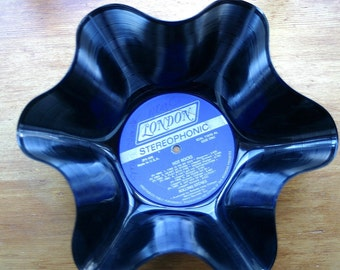"The Rolling Stones ""Hot  Rocks"" Genuine Vintage 33rpm Upcycled LP Record Bowl on London Records"