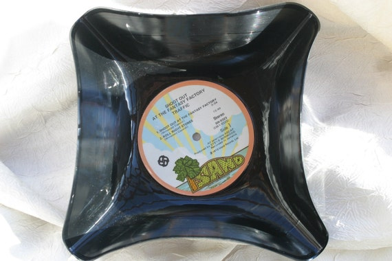 Traffic Genuine  Vintage 33rpm Upcycled LP Record Bowl featuring beautiful label