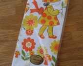 Vintage Hallmark Paper Table Cloth Little Girl and Flowers